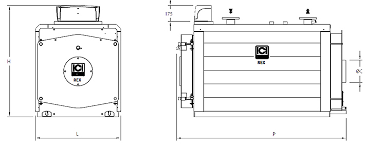 Схем котла ICI Caldaie REX 7-130