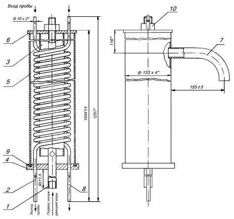 Технические характеристики холодильников отбора проб воды и пара